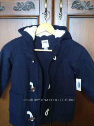 Модное шерстяное пальтишко на флисе 5лет Old Navy