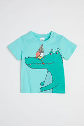 Модная футболка с крокодилом 92, 98 H&M