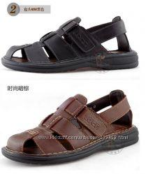 Акция Мужские сандалии из натуральной кожи Camel, третья модель.