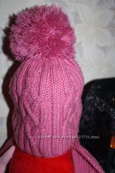 Теплая зимняя шапка-шарф