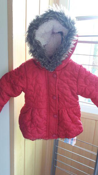 Шикарная куртка Еврозима для малышки 3-6 мес.
