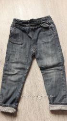 Крутые джинсы на подкладке Zara на 2-4 года