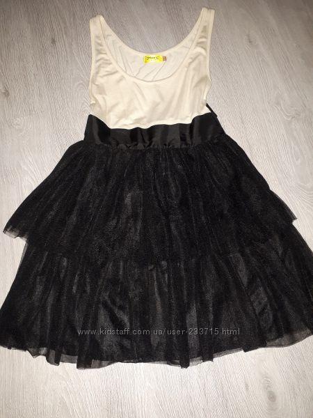 Стильное платье с еврофатина