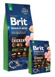 Brit Premium Adult XL Chicken сухой корм для собак гигантских пород Брит