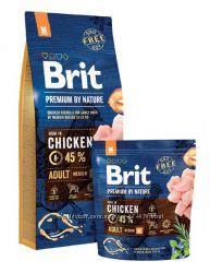 Brit Premium Adult M Chicken сухой корм для собак средних пород Брит
