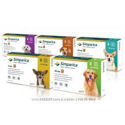 Simparica таблетки от блох и клещей Симпарика для собак