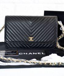 Сумки Chanel WOC Chevron кожа