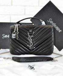 Сумки кожаные YSL College Monogram Medium Bag