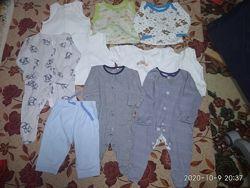 Пакет одежды на мальчика 2-4 месяца