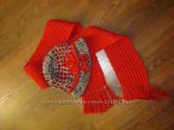 Весна осень комплект шляпка шарф