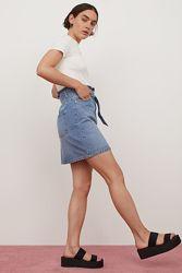 Крутая джинсовая юбка h&m размер 34 xs