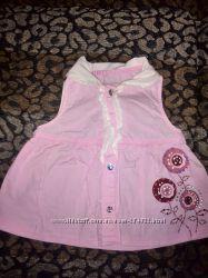 Блузка без рукавов для девочки, рост 98 см, Gloria Jeans