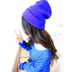 Шапки вязаные, шапки бини, стильные шапки  - много цветов
