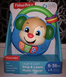 Fisher-Price Laugh & Learn Sing & Learn Music Player плеер. Свет, звук