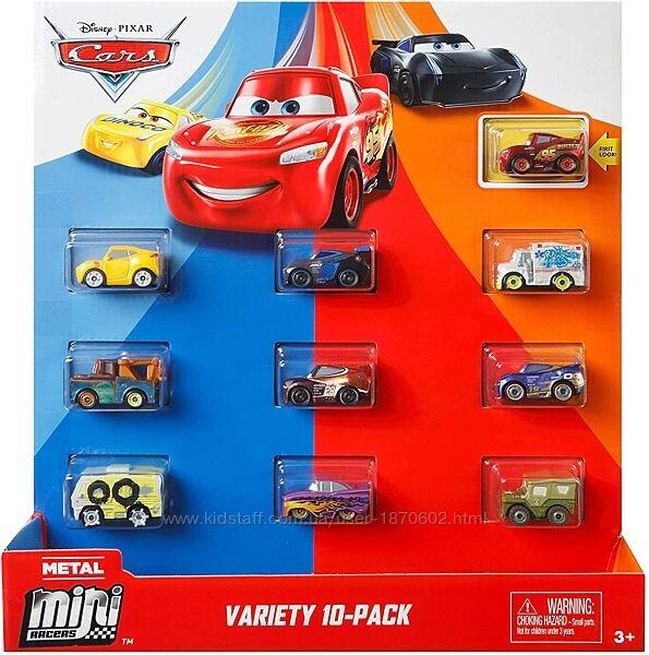 Тачки набор из 10 металлических машинок мини-гонщиков Cars Оригинал