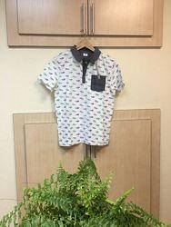 Хлопковая футболка, поло F&F на подростка. Рост 164 см
