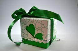 Зеленые изумрудные бонбоньерки, зелені бонбоньєрки