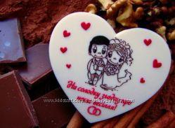 Свадебные шоколадки - подарки гостям