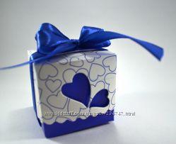 Синие коробочки бонбоньерки на любой праздник