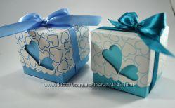 Голубые бонбоньерки подарочки