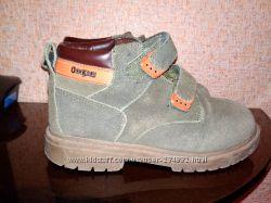Деми ботинки замшевые