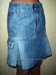 юбка джинсовая новая на ОБ до 90см.