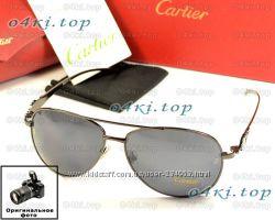Мужские солнцезащитные очки Cartier капли стекло качество 2 вида супер цена