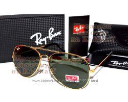 Мужские солнцезащитные очки Ray Ban Aviator RB 3026 Авиатор линзы стекло