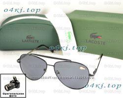 Мужские солнцезащитные очки Lacoste Aviator Авиатор для водителя 3 вида ААА
