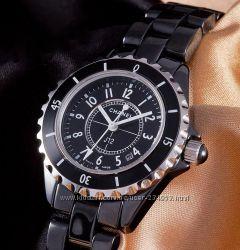 Стильные женские наручные часы Chanel J12 Ceramic керамика качество ААА