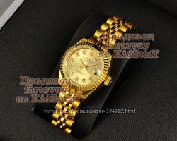 Женские наручные часы ROLEX Oyster Perpetual Datejust Gold Dimond копия ААА
