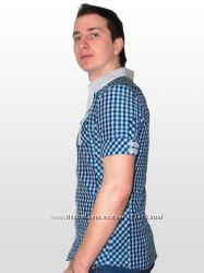 Стильная мужская рубашка с коротким рукавом Absolut Joy Италия.