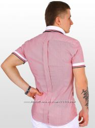 Стильная мужская рубашка с коротким рукавом BonaVita.