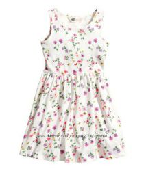 Милое платьице H&M девочке на 4-6 лет