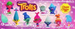 Фигурки Тролли из шоколадных яиц Чуппа Чупс