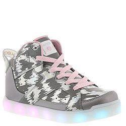Крутые светящиеся хайтопы Skechers для девочки р. 35 US 3, оригинал