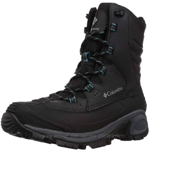 ботинки Columbia Bugaboot р. US8  зимние черные ботинки