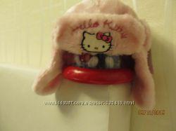 Шапочка hello kitty осень-зима новая