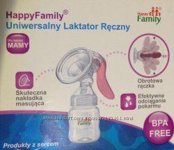 Ручной лактатор молокоотсос Happy Family Польша  бутылочка
