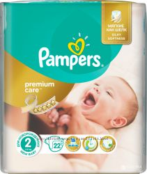 Подгузники Pampers Premium Care New Born 2 3-6 кг 22 шт
