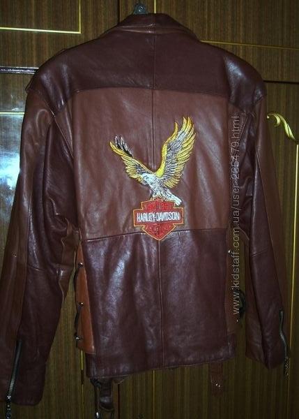 Кожанная коричневая куртка-косуха
