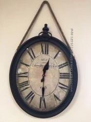 Часы овальные с канатом настенные новые 3678