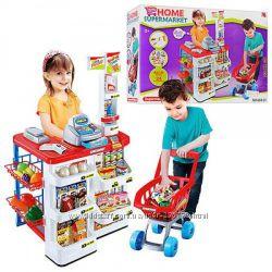 Наборы детский супермаркет с тележкой. Качество.