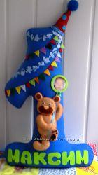 Цифра из фетра в День рождения ребенка, для фотосессии