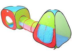 Детская игровая палатка с тоннелем. Большой выбор