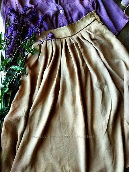 Бежевая юбка с карманами зара 26 размер