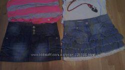 Фирменые джинсовые юбочки DENIM CO, JENIFER. 38-40 р-р