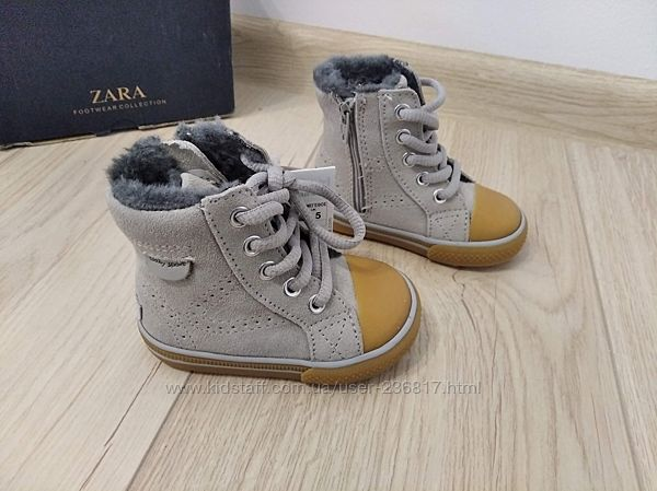 Ботинки 18 р. Zara на меху