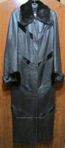 Плащ кожаный пальто кожаное