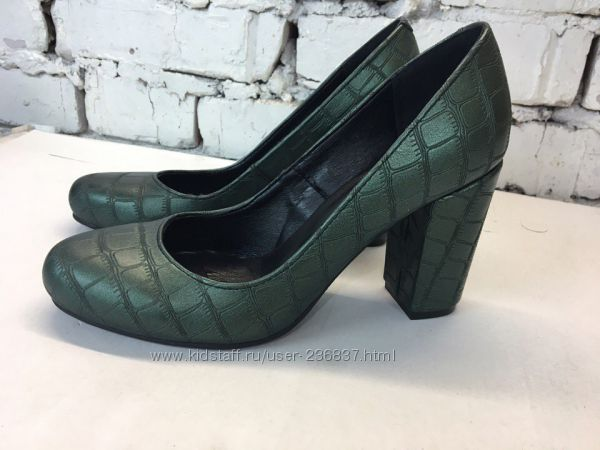 Туфли широкий каблук